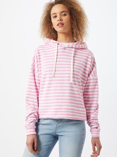 Tommy Jeans Sweatshirt in pink / weiß: Frontalansicht