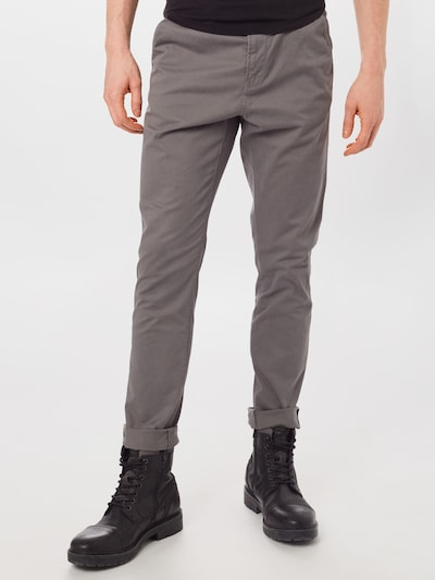 TOM TAILOR DENIM Chinohose in grau, Modelansicht