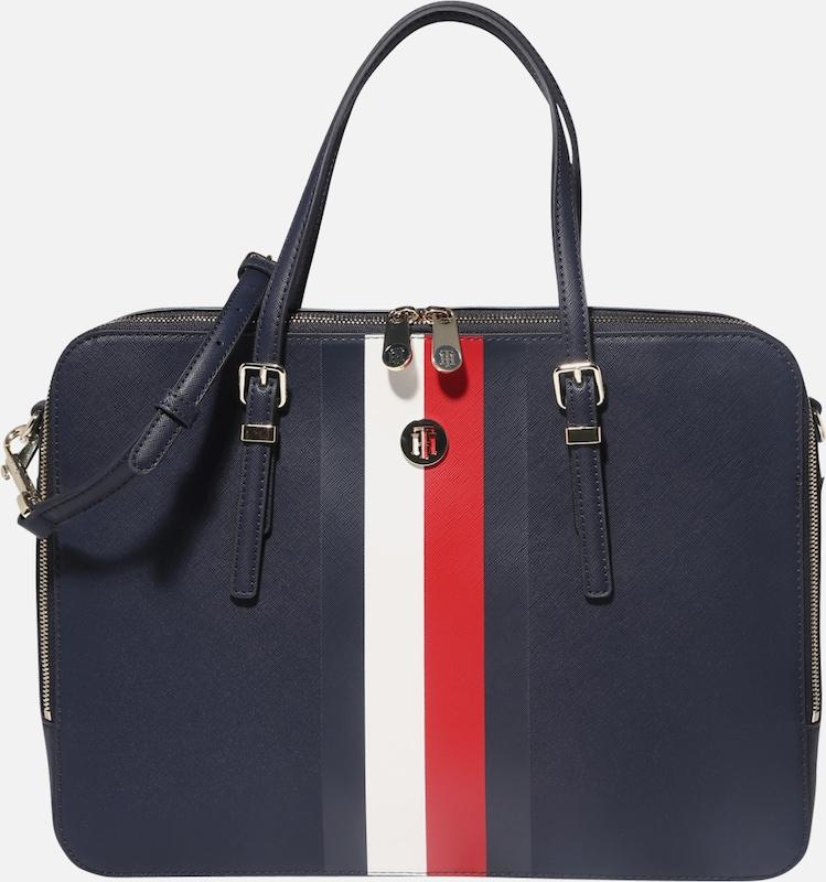 TOMMY HILFIGER Laptoptasche 'HONEY COMPUTER BAG CORP' in blau / rot / weiß, Produktansicht