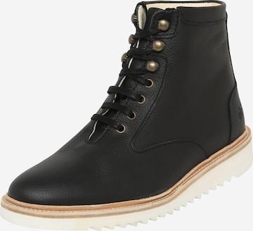 EKN Footwear Boots med snörning 'DESERT HIGH RIPPLE' i svart