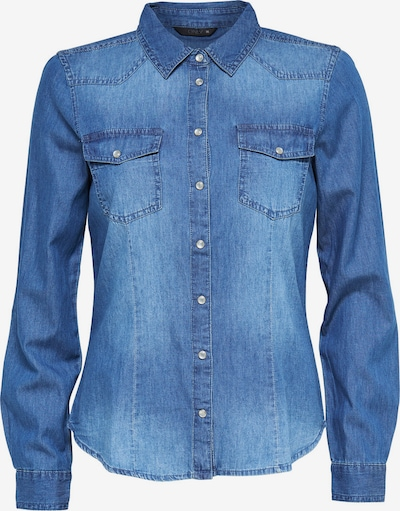 ONLY Langarmhemd Denim in blau, Produktansicht