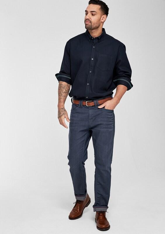 s.Oliver RED LABEL Regular: Hemd mit Dobby-Struktur