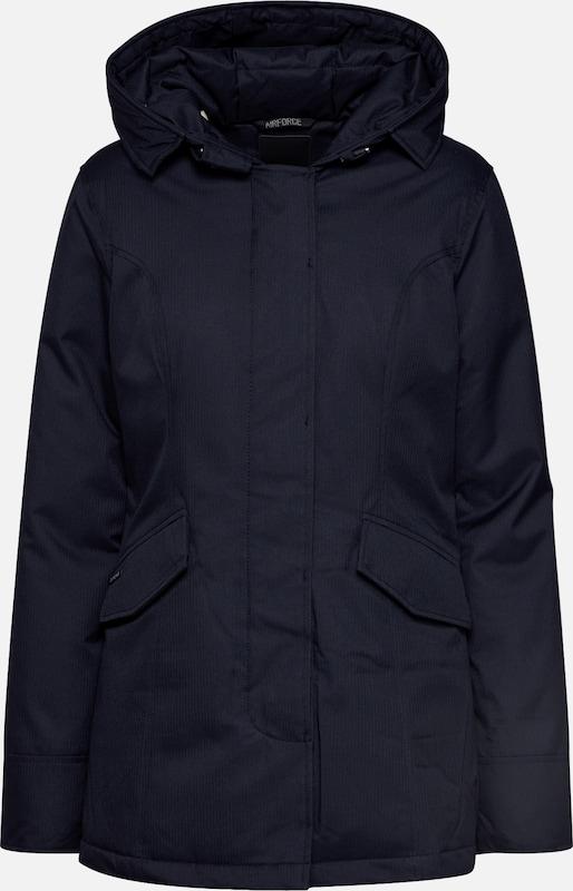 AIRFORCE Parka 'Herringbone' in schwarz | ABOUT YOU