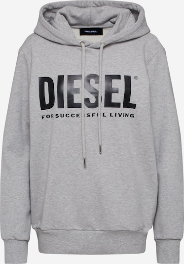 DIESEL Sweatshirt 'S-GIR-HOOD-DIVISION-LOGO' in de kleur Grijs, Productweergave