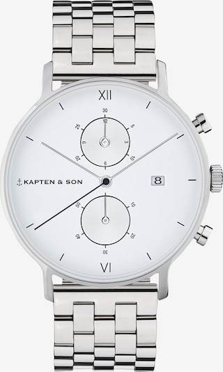 Kapten & Son Analog watch 'Small Chrono Steel' in silver, Item view