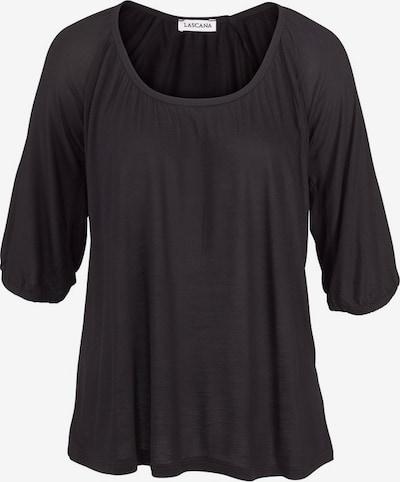 LASCANA Figur umspielender Pyjama in schwarz, Produktansicht
