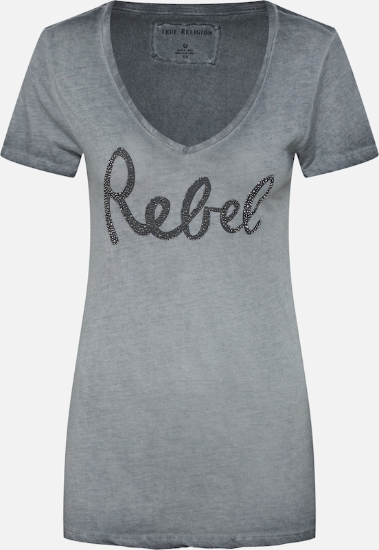 shirt Rebel' True En Gris Religion T 'vneck mNvn80w