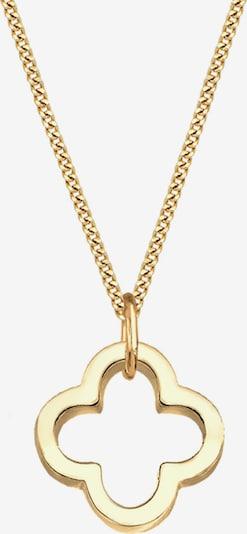 ELLI PREMIUM Halskette 'Kleeblatt' in gold, Produktansicht