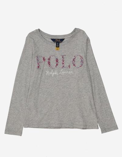 POLO RALPH LAUREN T-Shirt en gris / rouge / blanc, Vue avec produit