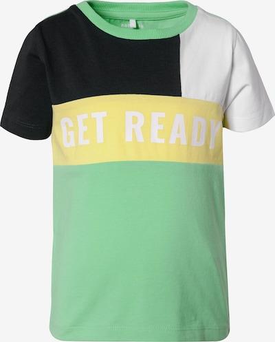 NAME IT Shirt 'Hank' in gelb / mint / schwarz / weiß, Produktansicht
