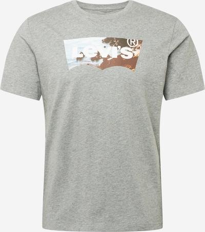 LEVI'S Majica 'HOUSEMARK' | azur / rjava / pegasto siva / bela barva, Prikaz izdelka