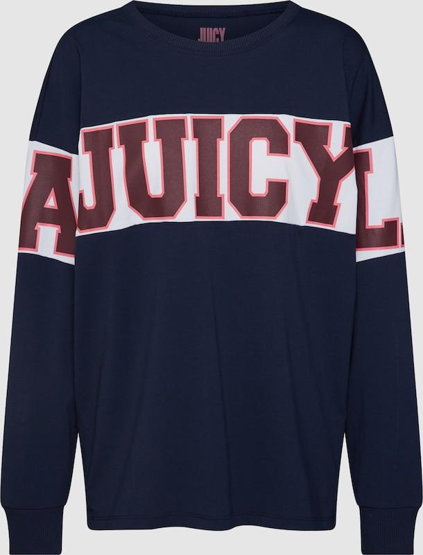 Juicy by Juicy Couture Sweatshirt 'Farbeblock Graphic Tee' in nachtblau   kirschrot   weiß  Neue Kleidung in dieser Saison