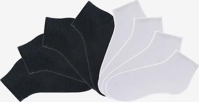GO IN Füßlinge in schwarz / weiß, Produktansicht