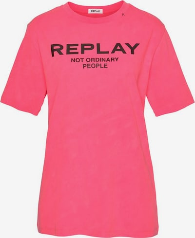 REPLAY Shirt in neonpink, Produktansicht