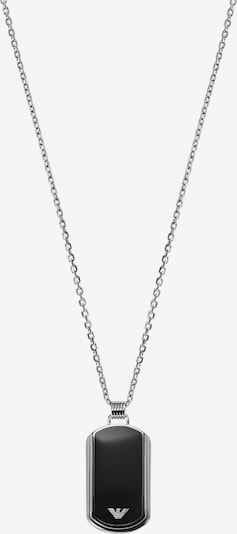 Emporio Armani Kette in schwarz / silber, Produktansicht