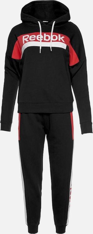 REEBOK Jogginganzug in rot schwarz weiß   ABOUT YOU
