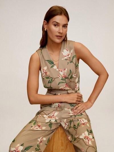 MANGO Jumpsuit in beige / mischfarben, Modelansicht