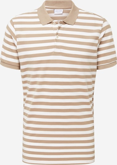 JACK & JONES Polo Shirt in beige / weiß, Produktansicht