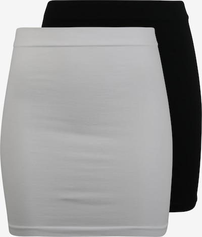 MAMALICIOUS Shapingslip 'MLCARA COTTON BUMPBAND 2-PACK O.' in de kleur Zwart / Wit, Productweergave