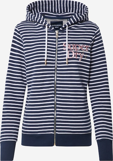 Superdry Sweatjacke 'APPLIQUE' in navy / weiß, Produktansicht