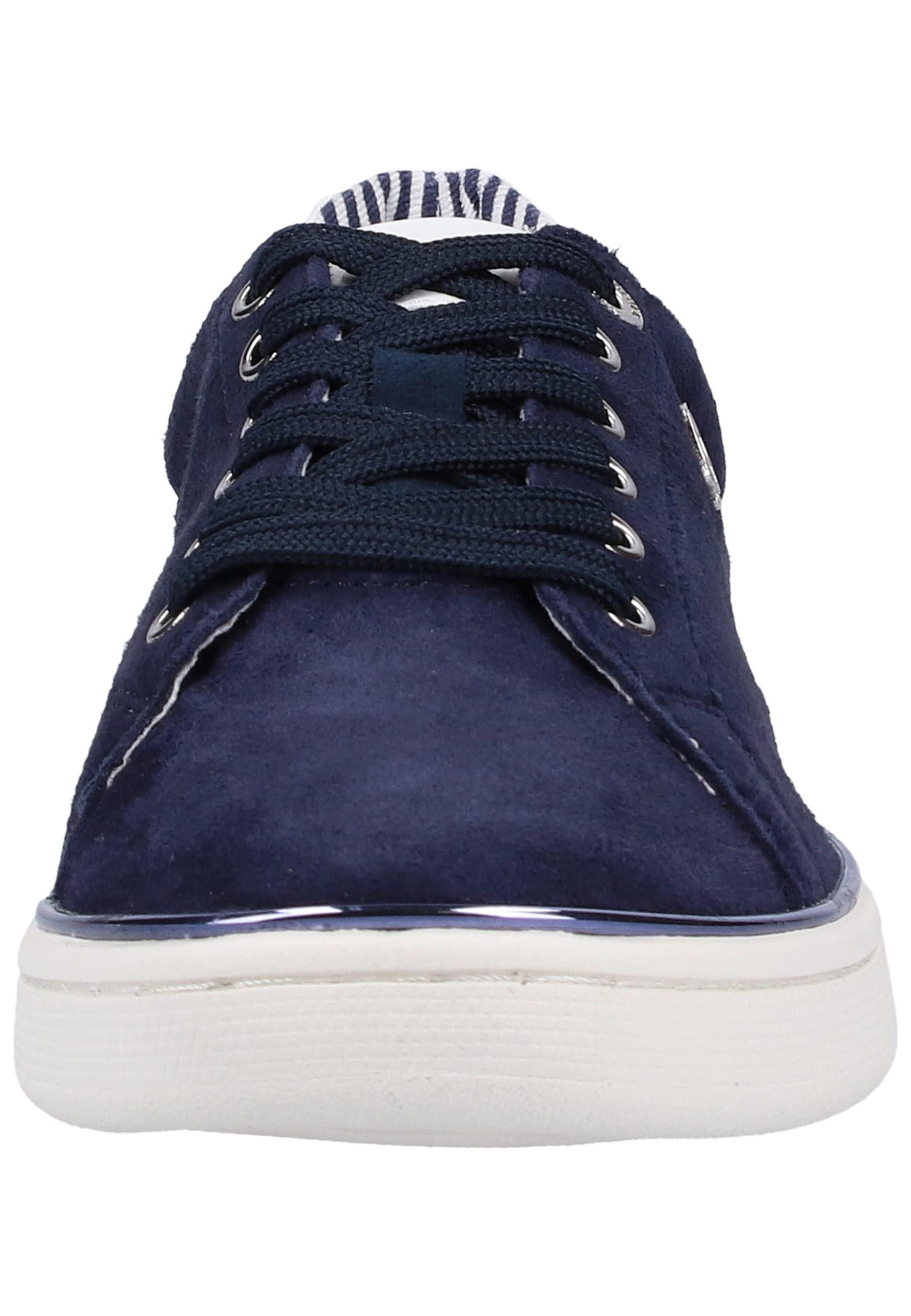 Basses OutremerBlanc Baskets Label Black S oliver En Bleu y0vnNm8wO