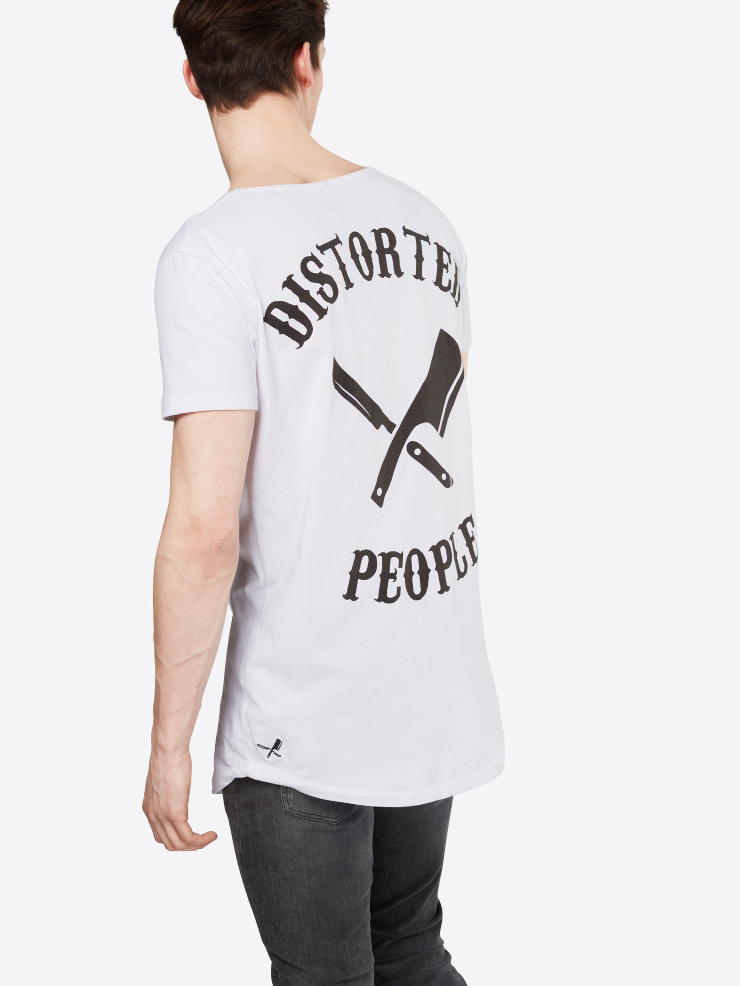 distortedpeople T-Shirt 'Cutted Neck Team Oversized' Billigster Günstiger Preis Erstaunlicher Preis Günstig Online dpPPU