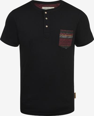 INDICODE JEANS Rundhalsshirt 'Art' in schwarz, Produktansicht