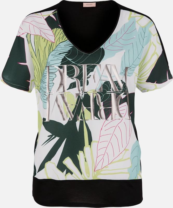 TRIANGLE T-Shirt in hellblau   dunkelgrün   schwarz   weiß  Bequem und günstig