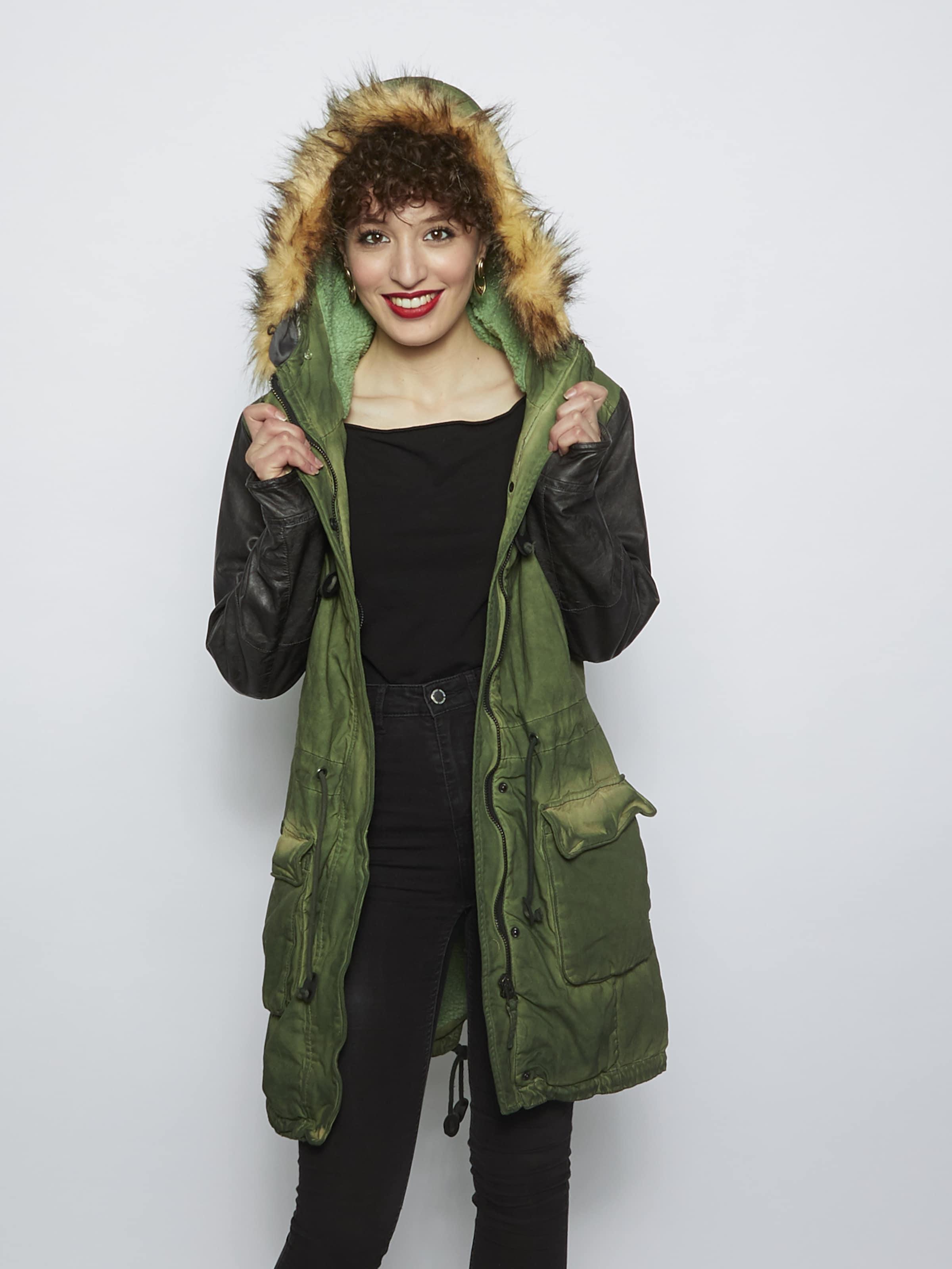 Maze Jacke 'Bracknell' in grün / schwarz