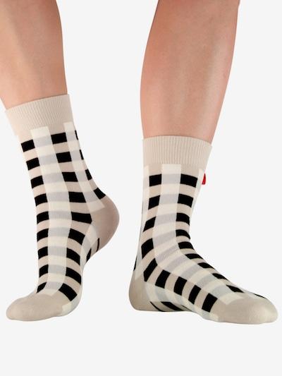 Tag SOCKS Socken 'Multi Patterns' in beige / hellblau / schwarz / weiß, Modelansicht