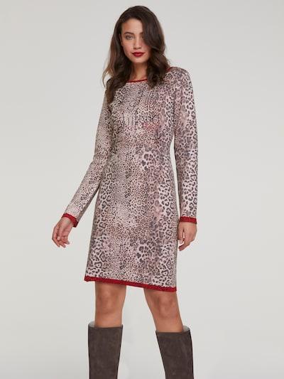 Megzta suknelė iš heine , spalva - ruda: Vaizdas iš priekio