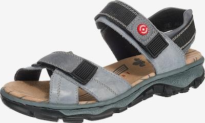 Sandale trekking RIEKER pe albastru porumbel / negru, Vizualizare produs