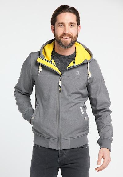 Schmuddelwedda Functionele jas in de kleur Rookgrijs, Productweergave