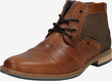 BULLBOXER Lace-up boot 'Schnürstiefel' in Brown