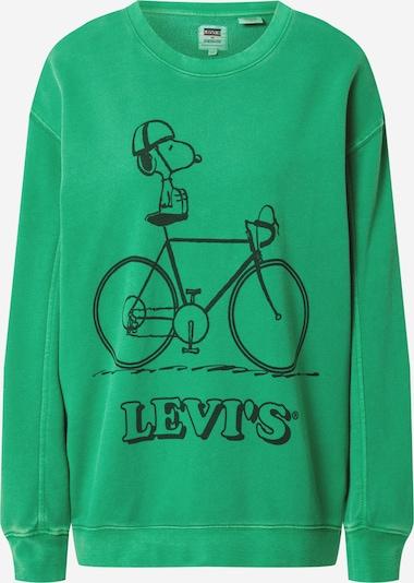 LEVI'S Sweatshirt 'Unbasic' in grün / schwarz, Produktansicht