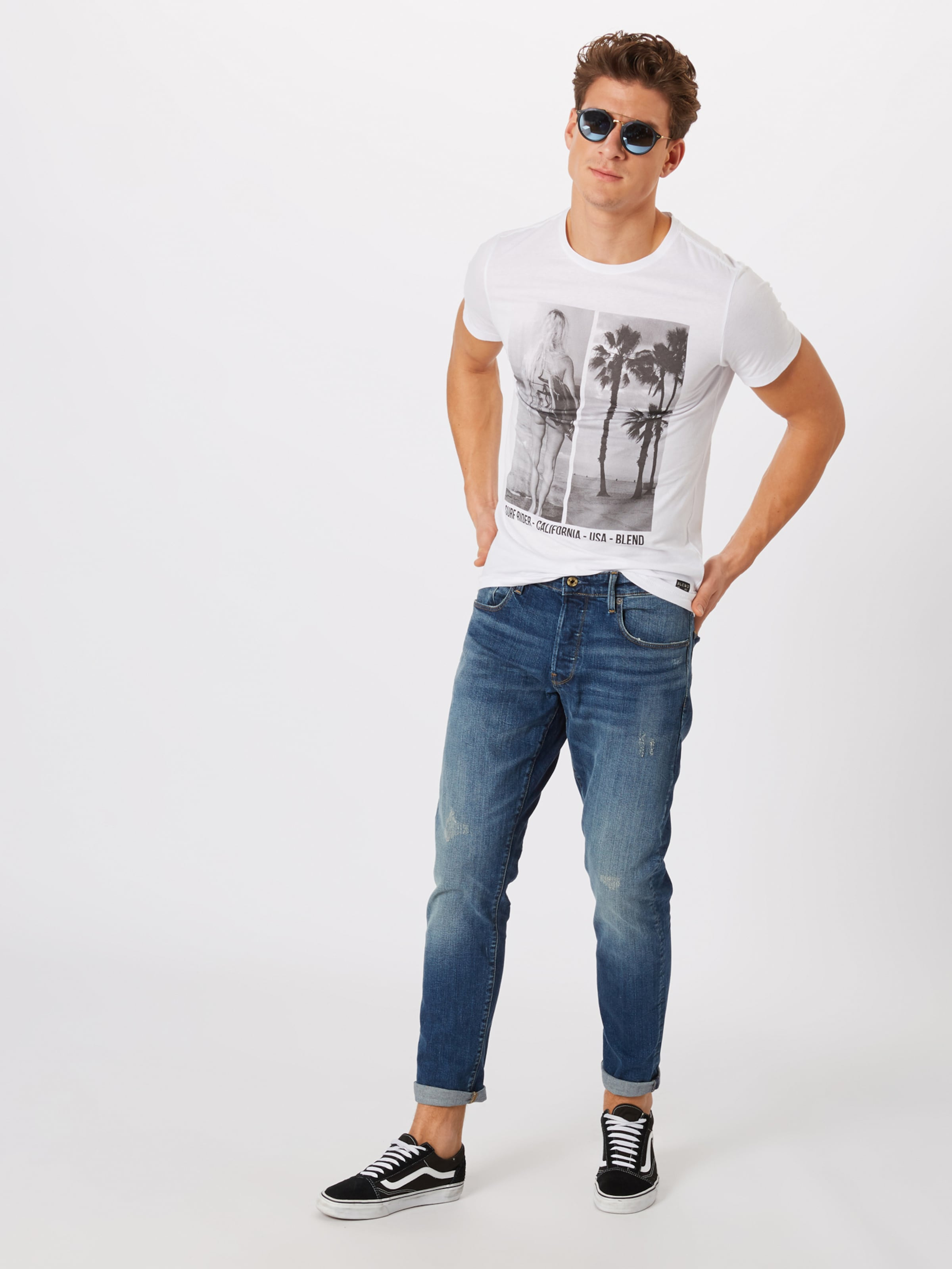 Blend Blend En T T shirt NoirBlanc WE92DHI