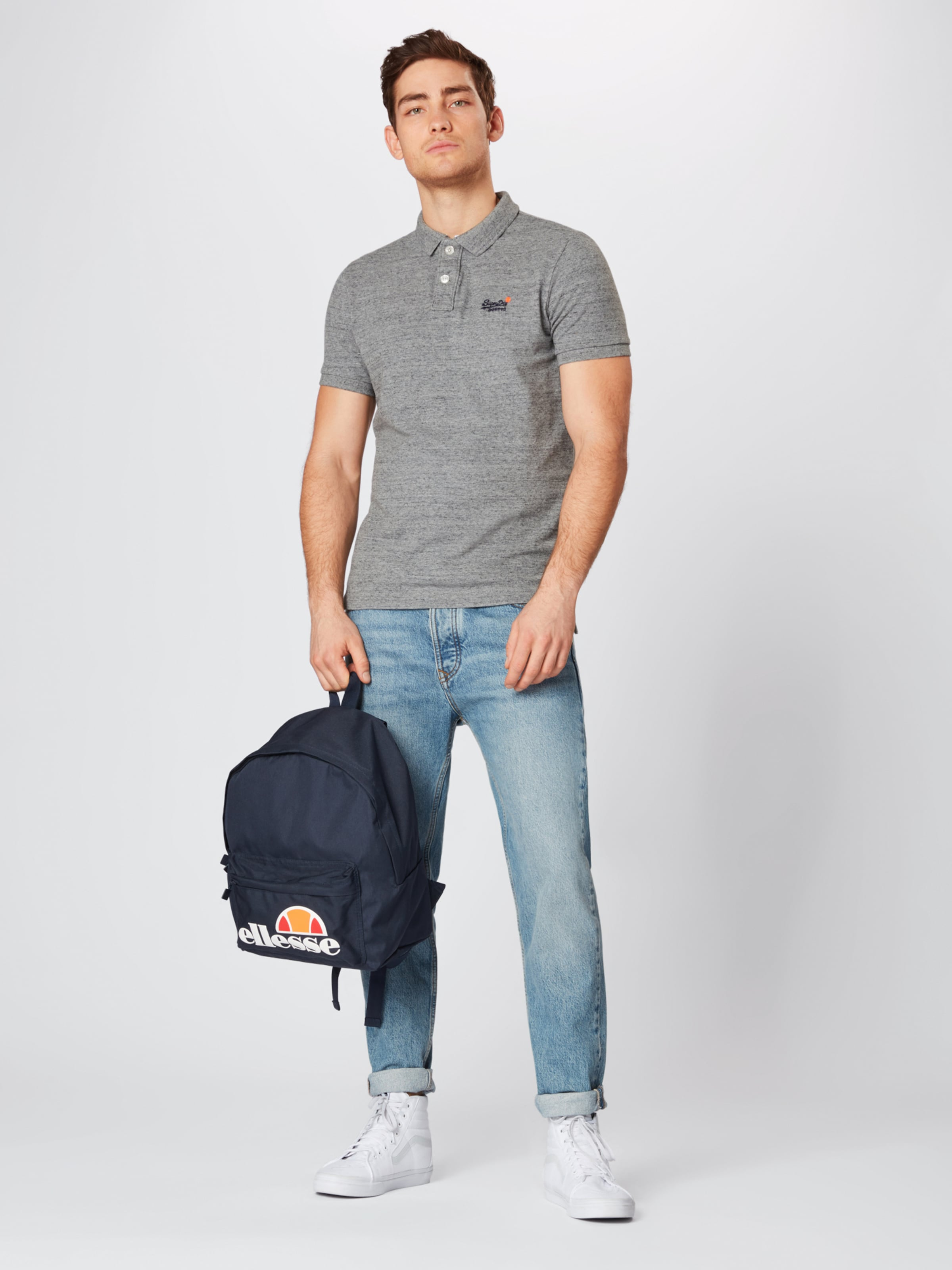 S In Pique Polo' s Superdry 'classic Shirt Grau hdsQxrCBt
