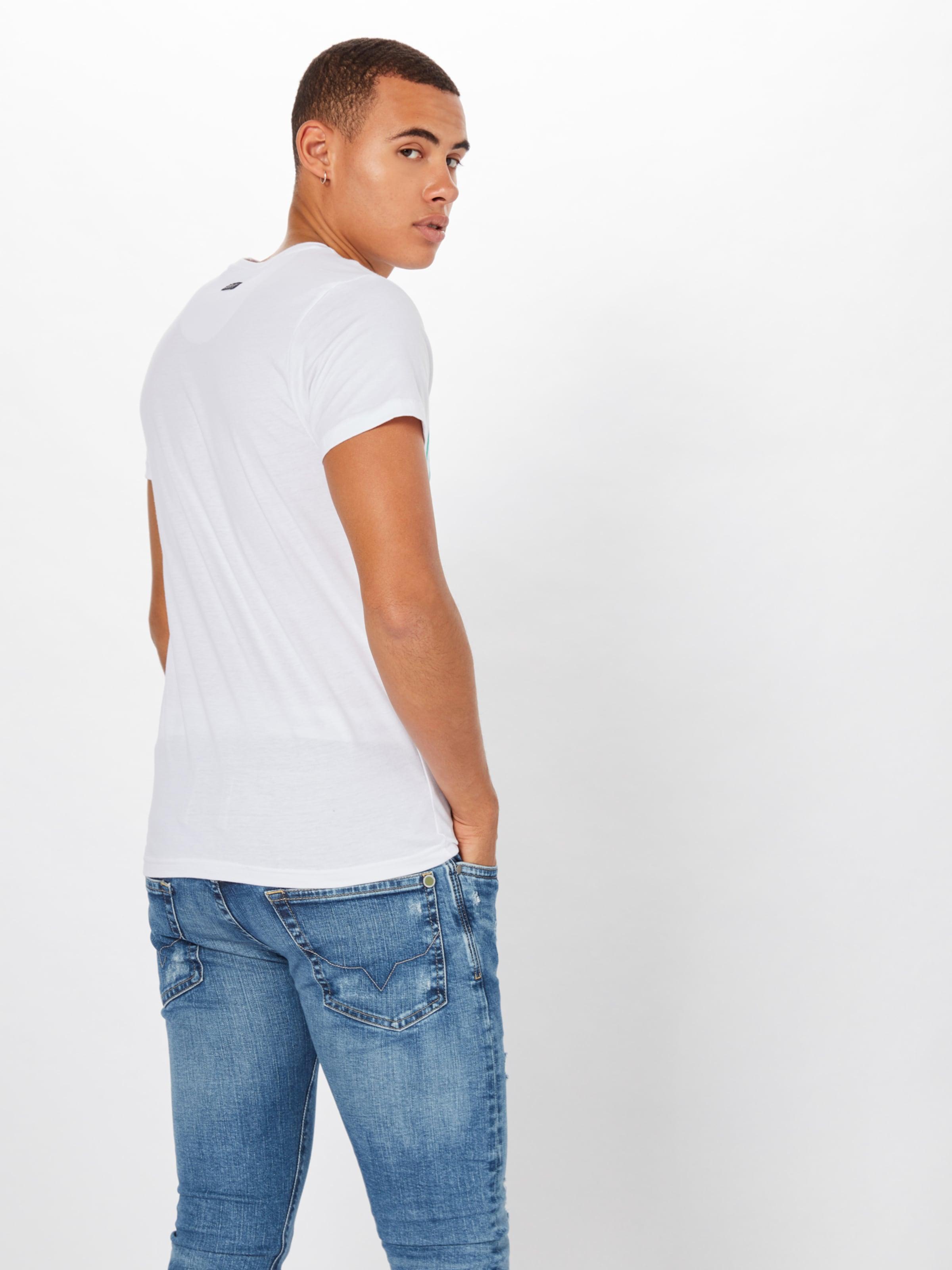 Bleu Petrol shirt En T FoncéVert Industries Blanc UVpLGqzMS