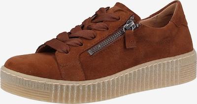 GABOR Sneakers laag in de kleur Cognac: Vooraanzicht