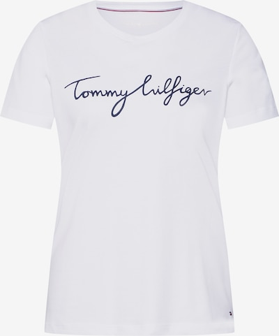 TOMMY HILFIGER Shirt 'HERITAGE CREW NECK G' in de kleur Nachtblauw / Wit, Productweergave
