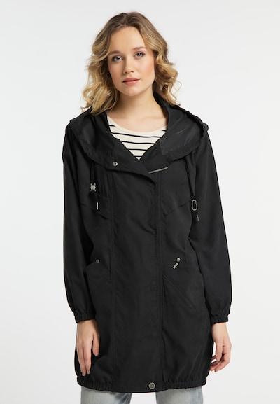 DREIMASTER Mantel in schwarz, Modelansicht