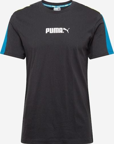 PUMA T-Shirt in himmelblau / schwarz / weiß: Frontalansicht