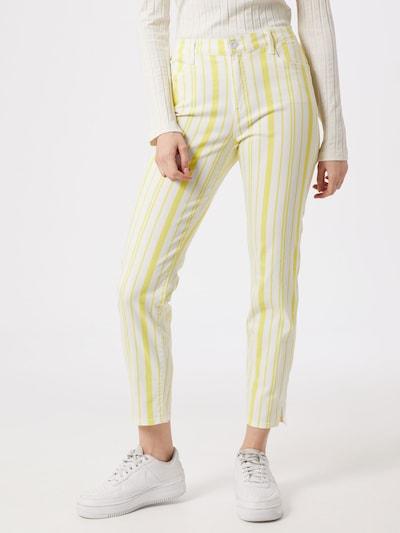 BRAX Jeans 'SHAKIRA' in gelb / weiß, Modelansicht