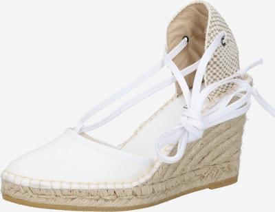 espadrij l´originale Sandały 'Pyrenées 9' w kolorze beżowy / białym: Widok z przodu
