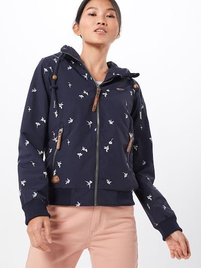 Ragwear Jacke 'NUGGIE BIRDS' in creme / navy / rosa: Frontalansicht