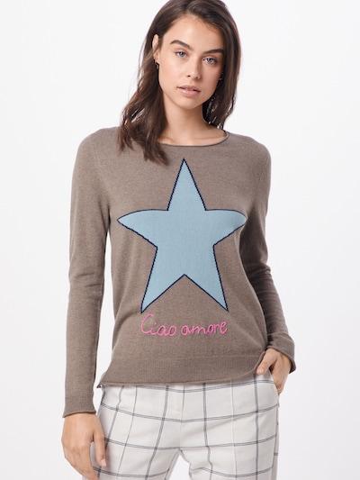 Megztinis 'LailaniL' iš LIEBLINGSSTÜCK , spalva - šviesiai mėlyna / šviesiai ruda / rožinė: Vaizdas iš priekio