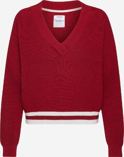 Pepe Jeans Pullover 'Marietta' in rot / weiß, Produktansicht