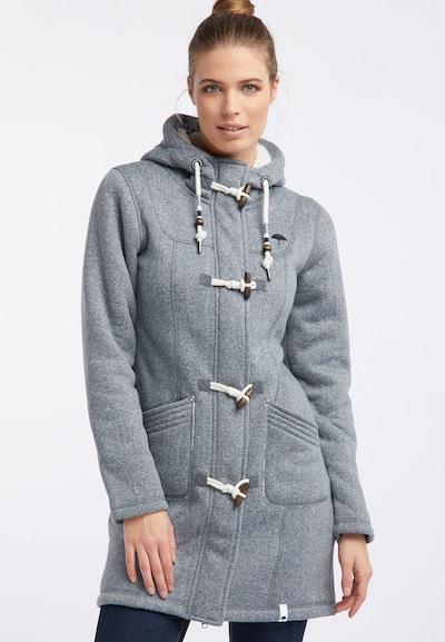 Schmuddelwedda Manteau mi-saison en gris argenté / blanc, Vue avec modèle