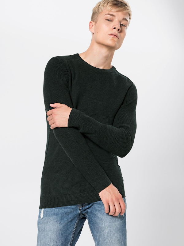 Knit Neck' Jackamp; Crew Vert Foncé over En Jones Pull 'jprmaine 6mIYgyvbf7