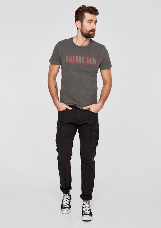 oliver Label Dunkelgrau Red shirt Mit Wording T S 6wZxfqZ